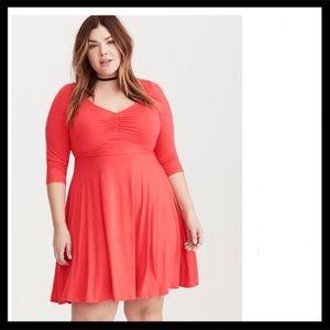 Torrid Jersey Knit Sweetheart Skater Dress